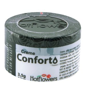 Creme Anal Conforto Funcional 3,5g HotFlowers - Sexy shop