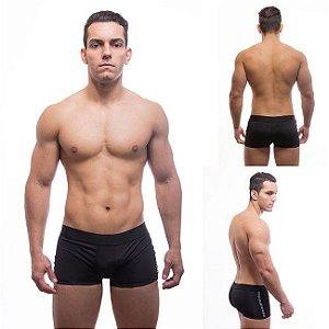 Cueca Boxer com Enchimento atrás faixa lateral azul e cinta - Sexyshop