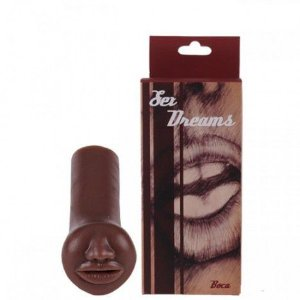 Delicioso masturbador masculino no formato de boca chocolate - Sexshop