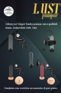 Desenvolvedor peniano com gatilho e manômetro - LUST PUMPER - NANMA - Sexshop