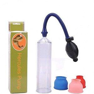 Desenvolvedor peniano importado com tubo em acrilico 3 anéis - Sexshop