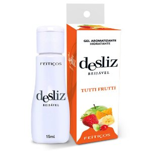 Desliz TUTTI FRUTTI Gel Beijável Hot 15ml Feitiçoes - Sex shop