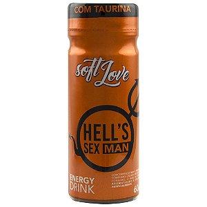 Energético Hells SexMan Energy Drink 60ml SoftLove - Sex shop