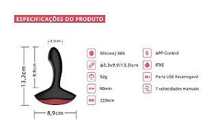 Estimulador de Próstata Solstice - Magic Motion - Controlado também por APP de Longa Distancia