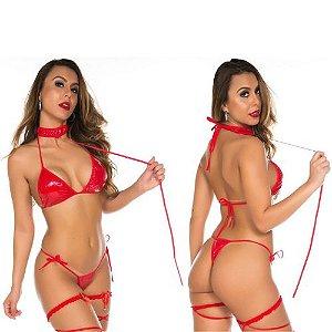Fantasia Erotica Apressadinha Vermelha Sexy Pimenta Sexy