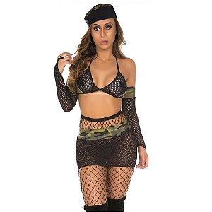 Fantasia Erótica Militar Sexy Pimenta Sexy