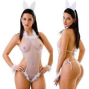 Fantasia Erótica Sensual Coelha - Sexshop