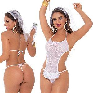 Fantasia Feminina Noiva Belisa Sapeka - Sex shop