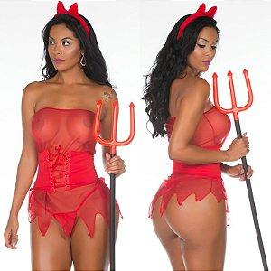 Fantasia Sexy Diabinha Pimenta Sexy - Sexshop