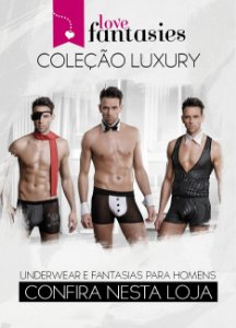 Fantasia Smoking Hot - Cueca Fio Dental + Punho + Gola - Sex shop