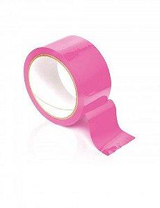 Fita rosa para bondage - PLEASURE TAPE PVC - PIPEDREAM - Sexshop