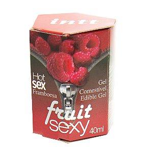 Fruit Sexy FRAMBOESA Hot Gel Comestível 40ml INTT - Sex shop