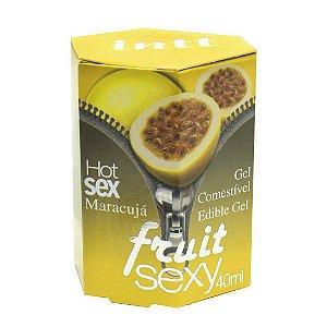 Fruit Sexy MARACUJÁ Hot Gel Comestível 40ml INTT - Sex shop