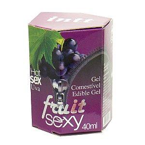 Fruit Sexy UVA Hot Gel Comestível 40ml INTT - Sex shop