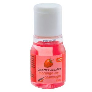 Gel Comestível Hot Morango com Champanhe 15ml Chillies - Sex shop