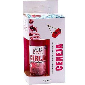 Gel Comestível Ice Cereja 15ml SoftLove - Sexshop