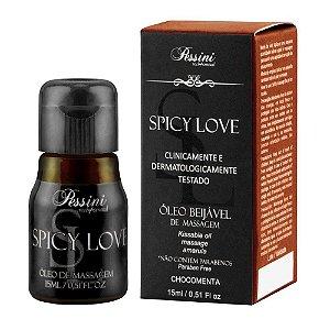 Gel Comestível Spicy Love 15ml Pessini Chocomenta - Sexshop