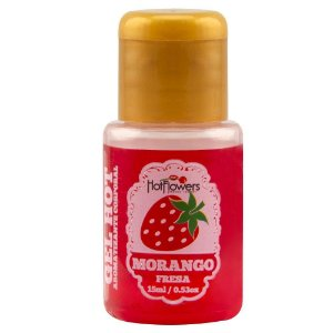 Gel Quente Aromatizante Morango 15ml Hot Flowers - Sex shop