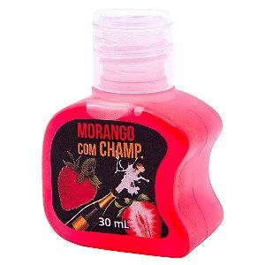 Gel Quente Comestível Morango com Champanhe 30ml SoftLove - Sex shop