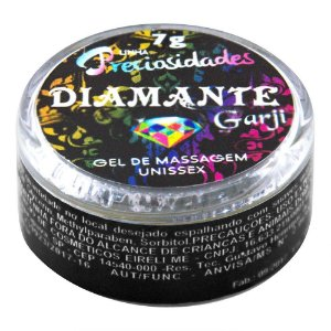 Gel Vasodilatador Intimo Diamante 7g Garji - Sex shop