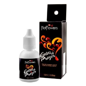 Gotas do Prazer Óleo de Massagem intima 15ml Hot Flowers - Sexshop