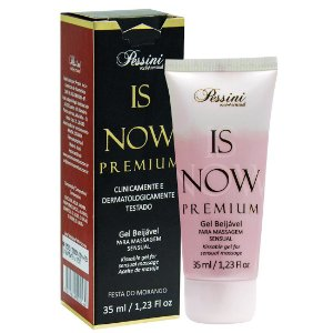 Is NOW! Premium Gel Quente Comestível FESTA DO MORANGO 35ml Pessini - Sex shop