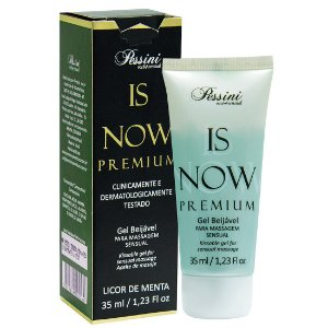 Is NOW! Premium Gel Quente Comestível LICOR DE MENTA 35ml Pessini - Sex shop