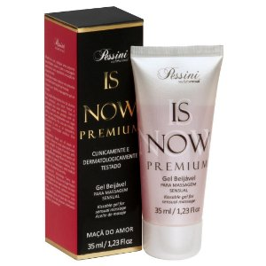 Is NOW! Premium Gel Quente Comestível Maça do Amor 35ml Pessini - Sex shop