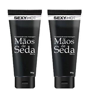 Kit 02 Mãos de Seda - Gel deslizante para masturbação 30g - Sexshop