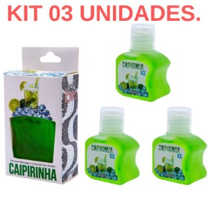Kit 03 Gel Gelado Comestível Caipirinha 30ml SoftLove - Sex shop