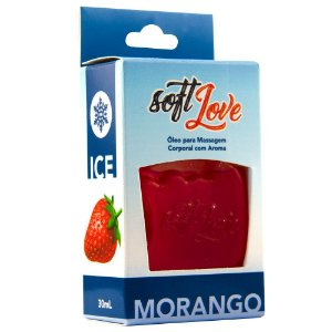Kit 03 Gel Gelado Comestível Morango 30ml SoftLove - Sex shop