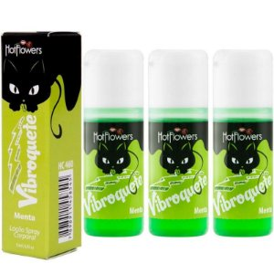 Kit 03 Gel Sexo oral Vibroquete Menta Vibrante 12gr Hot Flowers - Sex shop