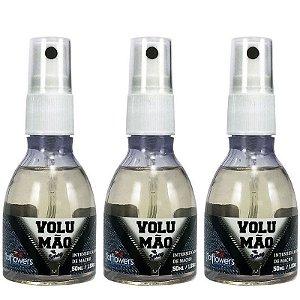 Kit 03 Gel Volumão Intensificador de MACHO Spray 50ml HotFlowers - Sex shop