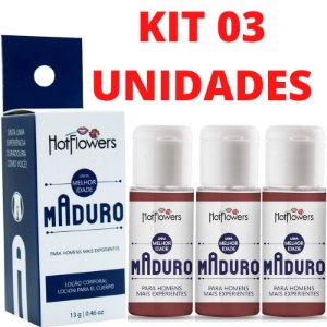 Kit 03 Maduro Estimulante Sexual Masculino 13g HotFlowers - Sex Shop