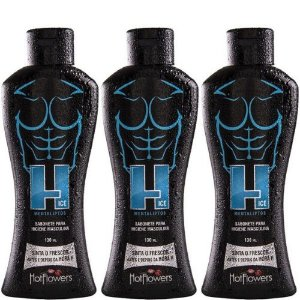 Kit 03 Sabonete íntimo H iCE Masculino 130ml HotFlowers - Sex shop