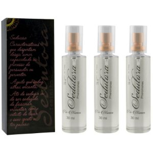 Kit 03 Sedutora Pheromones Feminino 30ml Garji - Sex shop