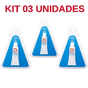 Kit 03 Unidades Analube Gel Funcional Anestésico Anal 7ml Pleasure Line