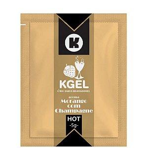 Kit 03 Unidades Lubrificante Morango com Champagne 5ml Kgel em Sache - Sexshop