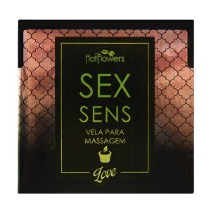 Kit 03 Vela Sex Sens Love Massagem Aromática 20g Hot FLowers - Sexshop
