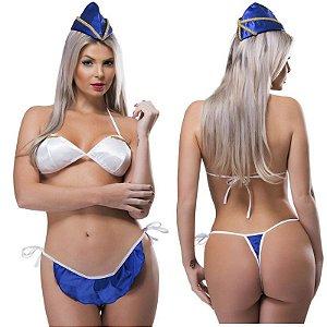 Kit Fantasia Desejos Aeromoça Sexy Fantasy - Sex shop