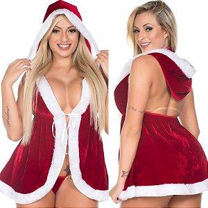 Kit Fantasia Mamãe Noel de Vestido Pimenta Sexy - Sexshop