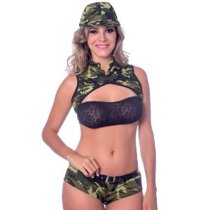 Kit Fantasia Militar A Short Sensual Love - Sexshop