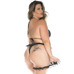 Kit Mini Fantasia Vermelho Plus Size Conjunto Sexy Pimenta Sexy - Sexshop