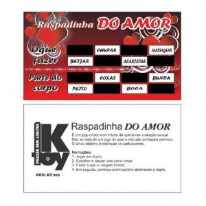 Kit Raspadinha do Amor - Sexshop