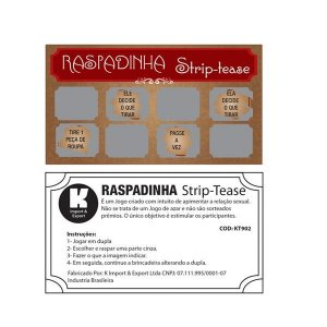Kit Raspadinha Strip Tease - Sexshop