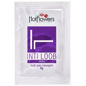 Lubrificante Íntimo IntiLoob Neutro Sachê 8g HotFlowers - Sexshop
