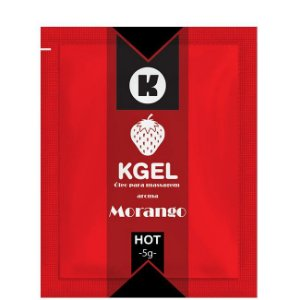 Lubrificante Morango 5ml Kgel em Sache - Sexshop