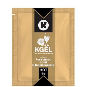 Lubrificante Morango com Champagne 5ml Kgel em Sache - Sexshop