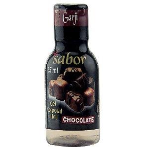 Mais Sabor ! Gel Comestível Quente Chocolate Garji - Sexshop
