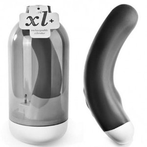 Massageador de 16 velocidades - XL + RECHARGEABLE MASSAGER VELVET BLACK - X MYBOX - Sexshop